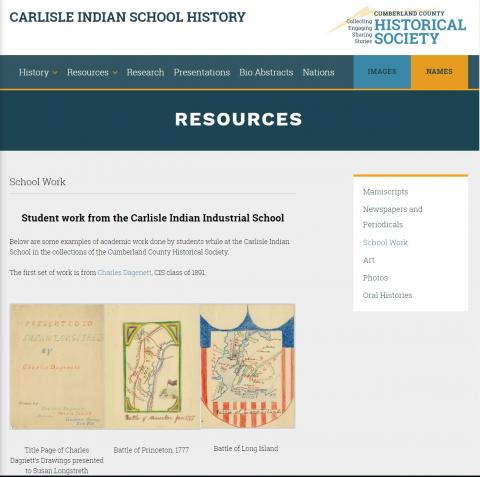 Student Work from the Carlisle Indian Industrial School at the Cumberland County Historical Society