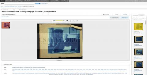 Carlisle Indian Industrial School Cyanotype Album in U.S. Army Heritage and Education Center Digital Collections