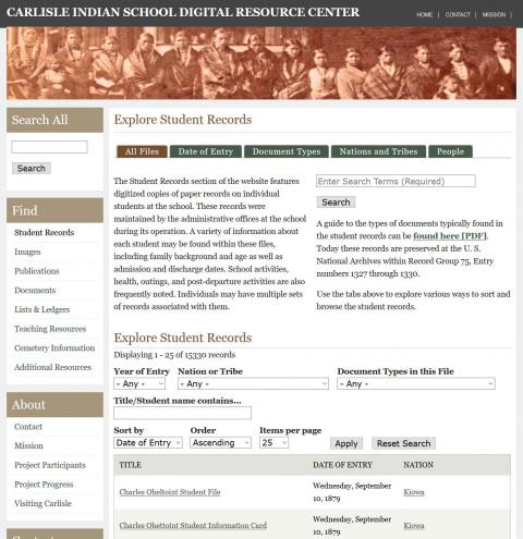 New Student Records Section Launched