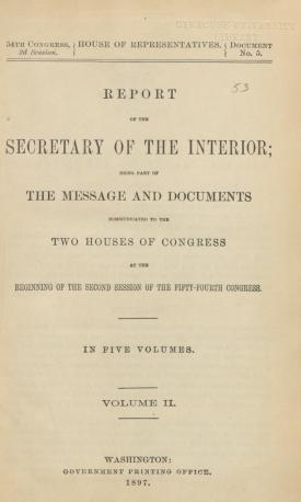 Excerpt from Annual Report of the Commissioner of Indian Affairs, 1896