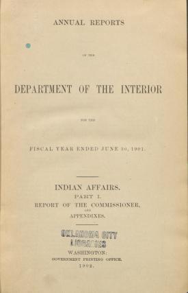 Excerpt from Annual Report of the Commissioner of Indian Affairs, 1901