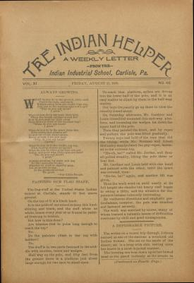 The Indian Helper (Vol. 11, No. 46)