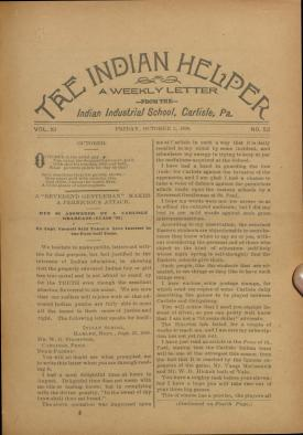 The Indian Helper (Vol. 11, No. 52)