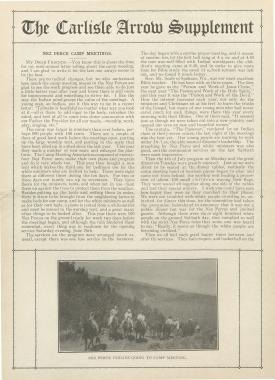 The Carlisle Arrow (Vol. 12, No. 17 Supplement)