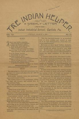 The Indian Helper (Vol. 7, No. 25)