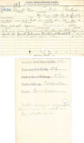 Charles D. Ross Student File