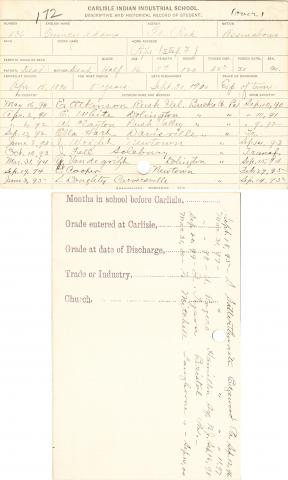 Quincy Adams Student File