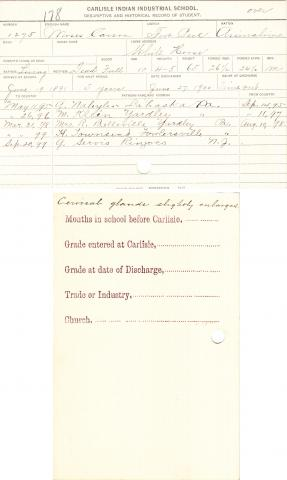 Moses Carson Student File