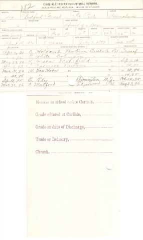 Bedford Forest Student File
