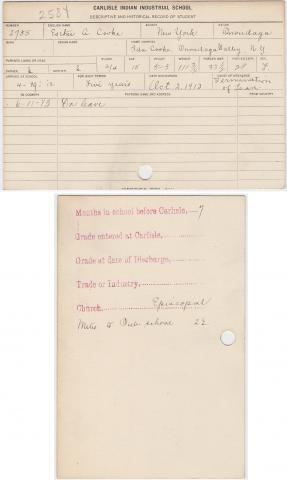 Esther A. Cooke Student File