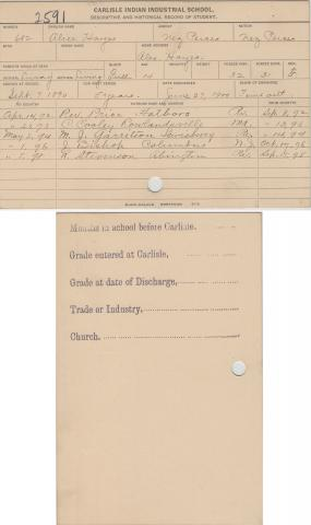 Alice Hayes Student File
