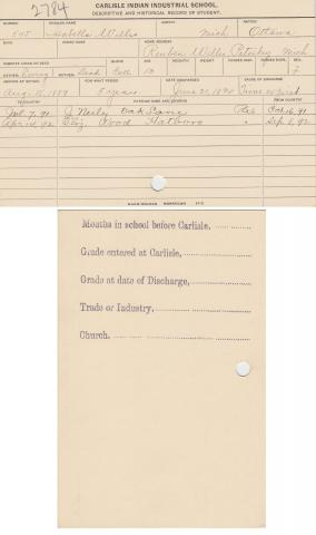 Isabella Willis Student File