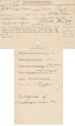 Edith Gibson Student File