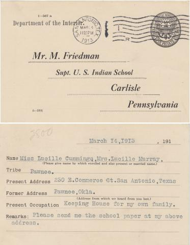 Lucy Cummings Student File