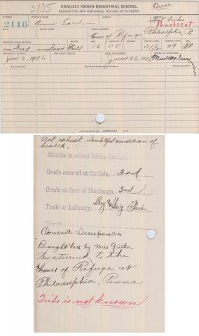 Annie Lord Student File