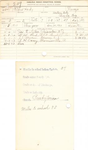 Alfred Hardy Student File
