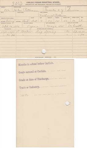 Helen Patterson Student File
