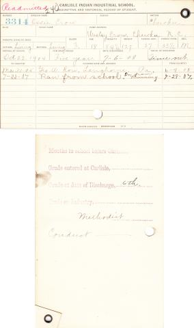 Ossie Crow Student File