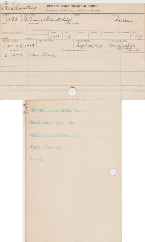 Gibson Blackchief Student File