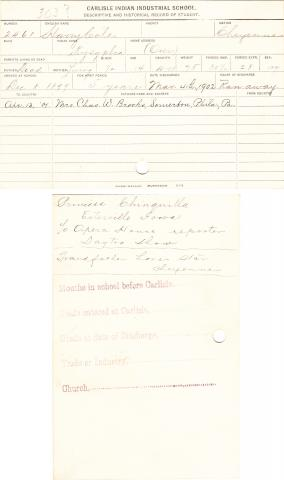 Harry Cole (Kysyplen) Student File