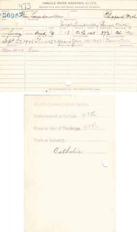 William Launderville Student File