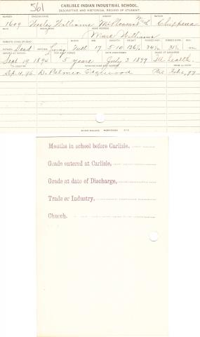 Wesley Williams Student File