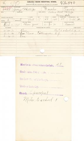 George Phillips Student File