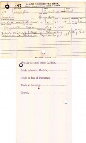 James Bell Student File