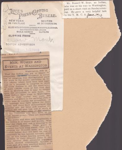Russell Whitebear Student File