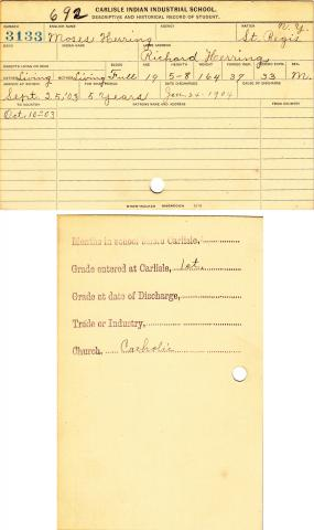 Moses Herring Student File