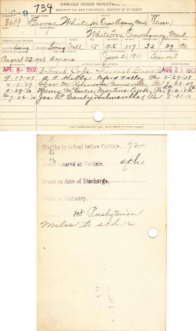 George Whitefox (Otter goes a long way) Student File