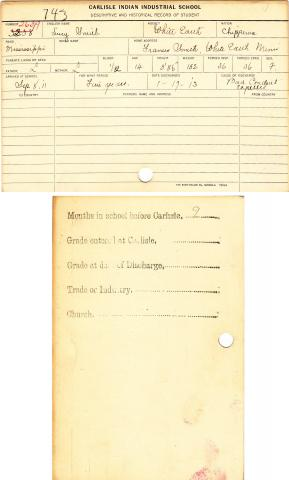 Lucy Smith Student File
