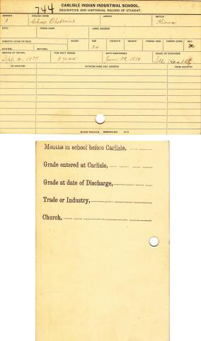 Charles Oheltoint Student File