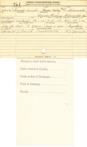 Arnold Smith Student File