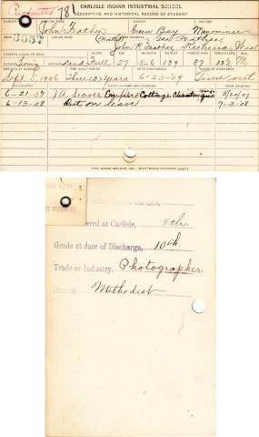John Feather Student File