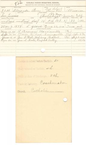 Alexander Perry Student File