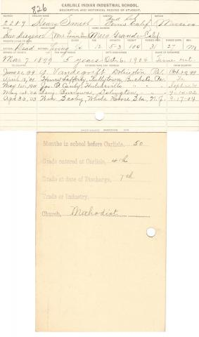 Henry E. Smith Student File