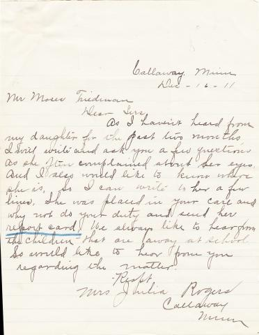Mary Rogers Student File