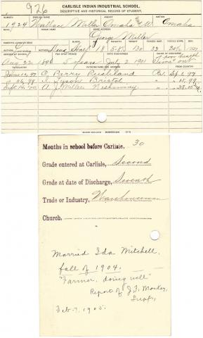 Wallace Miller Student File