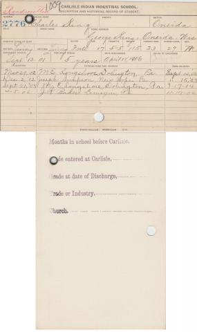Charles King Student File