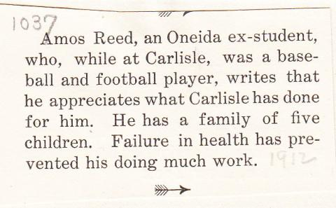 Amos Reed Student File