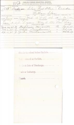 Anderson Silas Student File