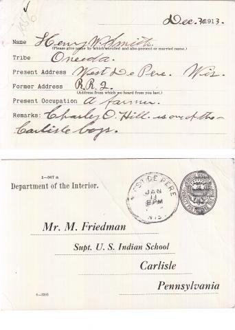 Henry W. Smith Student File