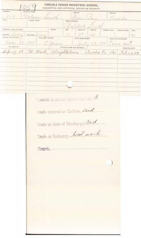 Nelson Smith Student File