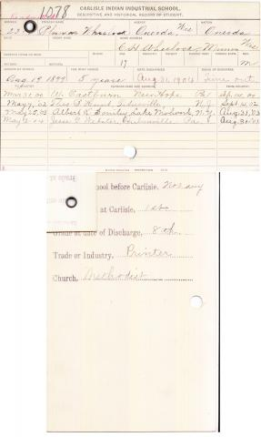 Phineas Wheelock Student File
