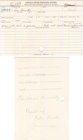 Lee Hardy Student File