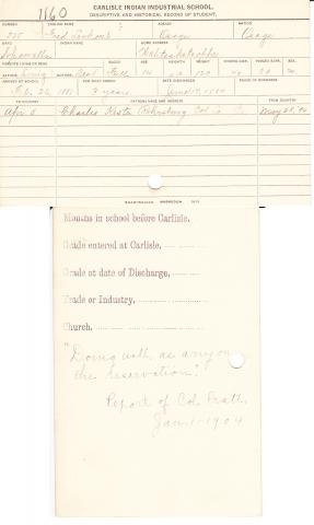 Fred Lookout Student File