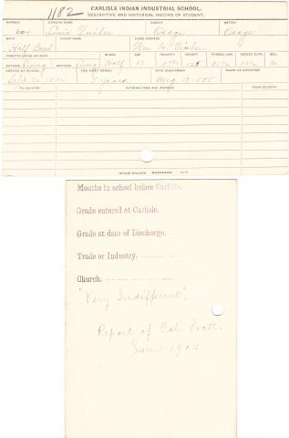 Louis Tinker Student File