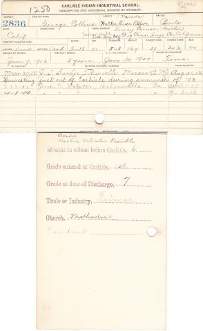 George Collins Student File