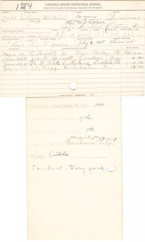 Henry Mitchell Student File